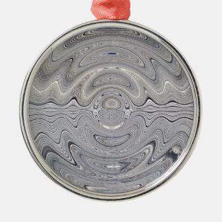 weathered wood ripple metal ornament