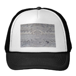 weathered wood ripple trucker hat