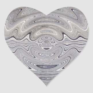 weathered wood rippled heart sticker
