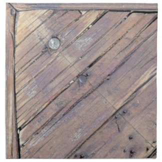 Weathered Wood Rough Textured Deck Cloth Napkin