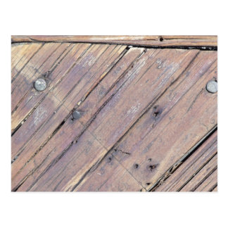 Weathered Wood Rough Textured Deck Postcard