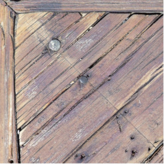 Weathered Wood Rough Textured Deck Statuette