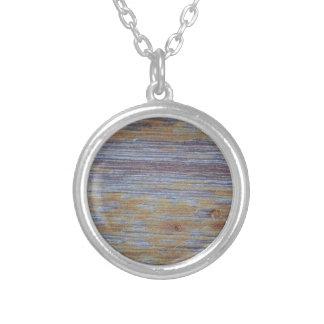 Weathered Wood Round Pendant Necklace