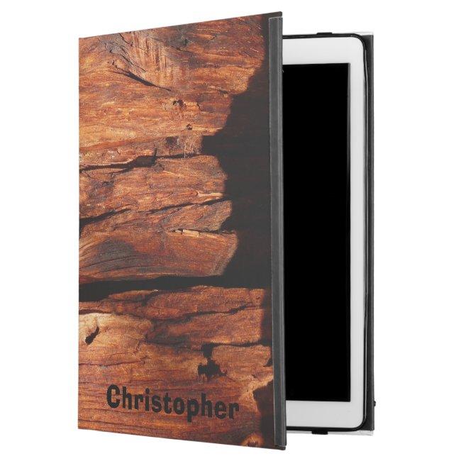 Weathered Wood Siding Personalized Rugged Folio