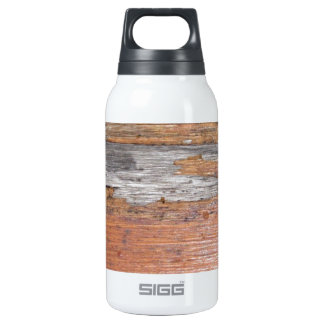 Weathered wood thermos bottle