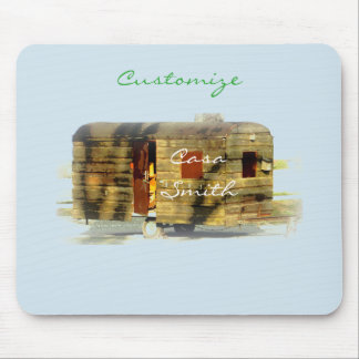 Weathered wood travel trailer Thunder_Cove Mouse Pad