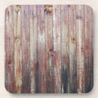 Weathered Wood Wall Texture Beverage Coaster