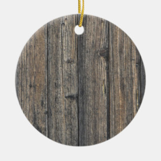 Weathered wood wall texture ceramic ornament