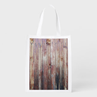 Weathered Wood Wall Texture Grocery Bag
