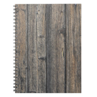 Weathered wood wall texture notebook