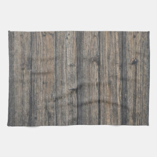Weathered wood wall texture towel