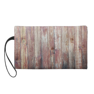Weathered Wood Wall Texture Wristlet