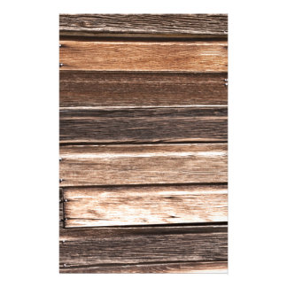 Weathered Wood with Many Shades of Brown Stationery