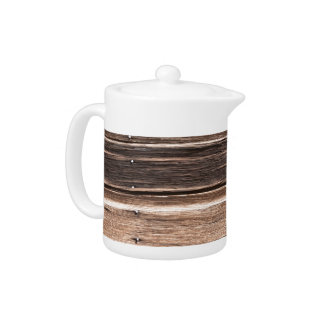 Weathered Wood with Many Shades of Brown Teapot