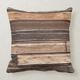 Weathered Wood with Many Shades of Brown Throw Pillow