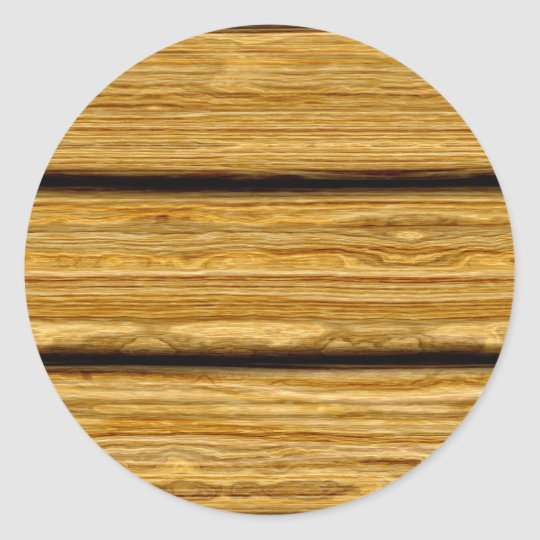 weathered wooden boards texture classic round sticker
