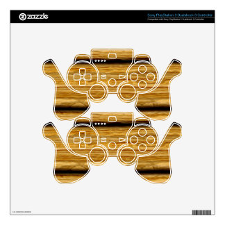 weathered wooden boards texture PS3 controller decal