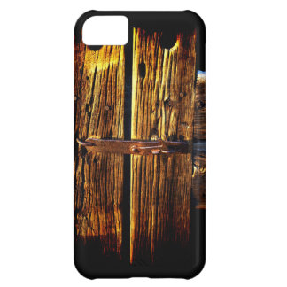 Weathered Wooden Door And Latch  Rustic Phone Case iPhone 5C Case