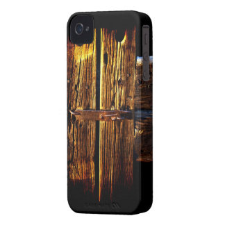 Weathered Wooden Door And Latch  Rustic Phone Case iPhone 4 Cover