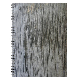 Weathered Wooden Texture - Notepad Notebook