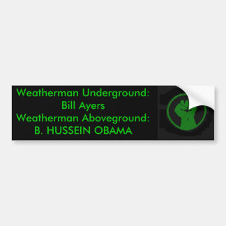 Weatherman Above and Below Ground ... Bumper Stickers