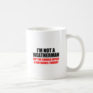 weatherman classic white coffee mug