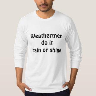 weatherman joke tshirt