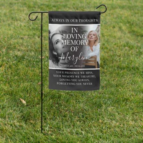 Weatherproof Funeral Memorial Tribute Photo Garden Flag
