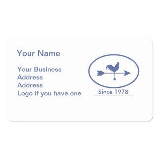 Weathervane del azul de la pequeña empresa tarjetas de visita