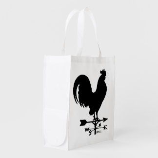 Weathervane Rooster Reusable Grocery Bag