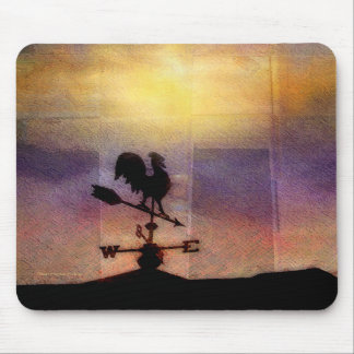 Weathervane Watercolor Silhouette Mouse Pad