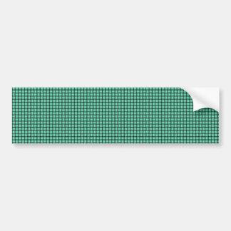 Weave - Aquamarine Bumper Sticker