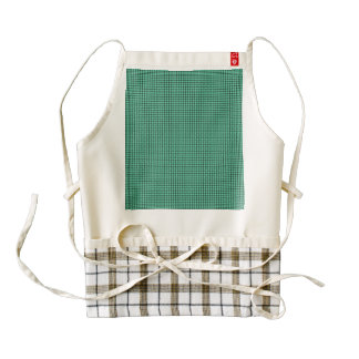 Weave - Aquamarine Zazzle HEART Apron