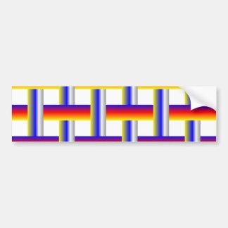 Weave Bars Bumper Sticker