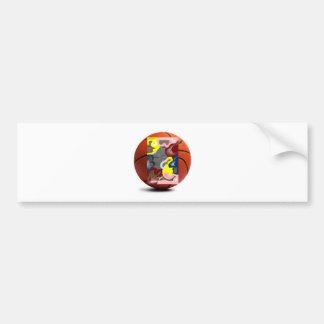 Weave Basketball Bumper Sticker