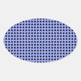 Weave- Blue Hues Oval Sticker