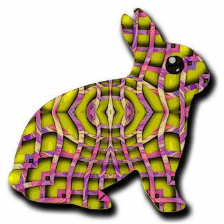 weave bunny standing photo sculpture