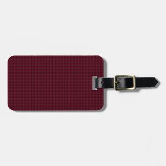 Weave - Burgundy Travel Bag Tags