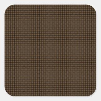 Weave - Dark Brown Square Sticker