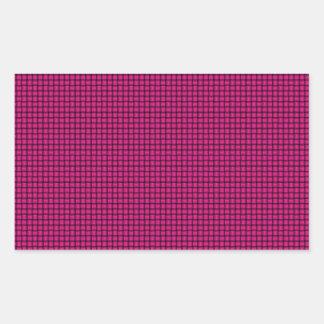 Weave - Deep Pink Rectangular Sticker