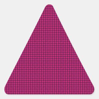 Weave - Deep Pink Triangle Sticker
