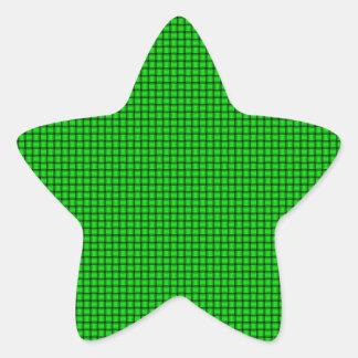 Weave - Electric Green Star Sticker