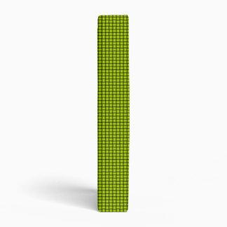 Weave - Fluorescent Yellow 3 Ring Binder