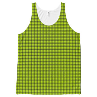 Weave - Fluorescent Yellow All-Over-Print Tank Top