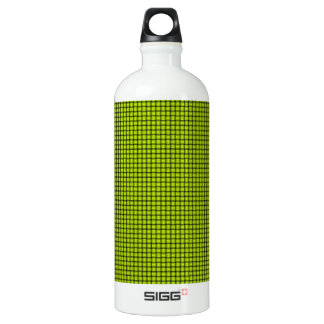 Weave - Fluorescent Yellow Aluminum Water Bottle