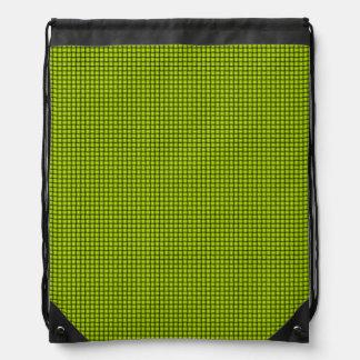 Weave - Fluorescent Yellow Drawstring Bag