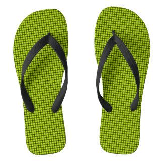 Weave - Fluorescent Yellow Flip Flops