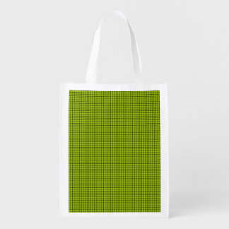 Weave - Fluorescent Yellow Market Totes