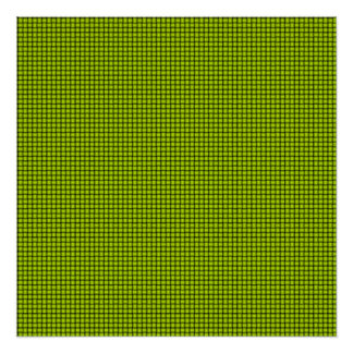 Weave - Fluorescent Yellow Poster