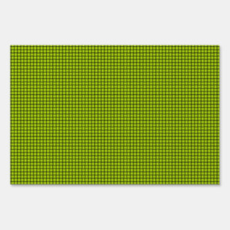 Weave - Fluorescent Yellow Sign